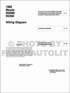 1989 Mazda B2600i B2200 Pickup Truck Wiring Diagram Manual Original