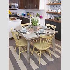 Coastal Kitchen With Whitewashed Dining Table #50338