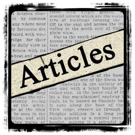 Articles Benweb