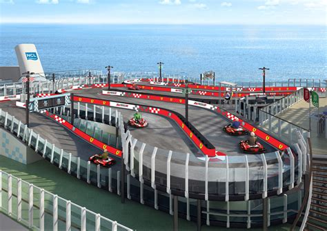 Norwegian Cruise Line Ship To Feature Ferrari Branded Race Track At Sea