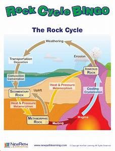 New Newpath Learning Rock Cycle Bingo Game  Grade 5