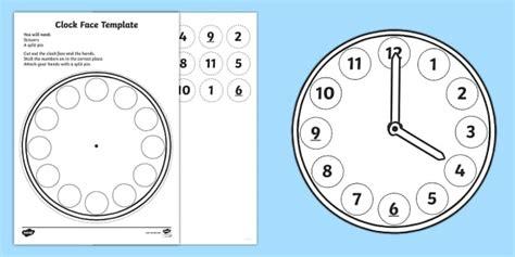 interactive clock face ks maths teaching resources