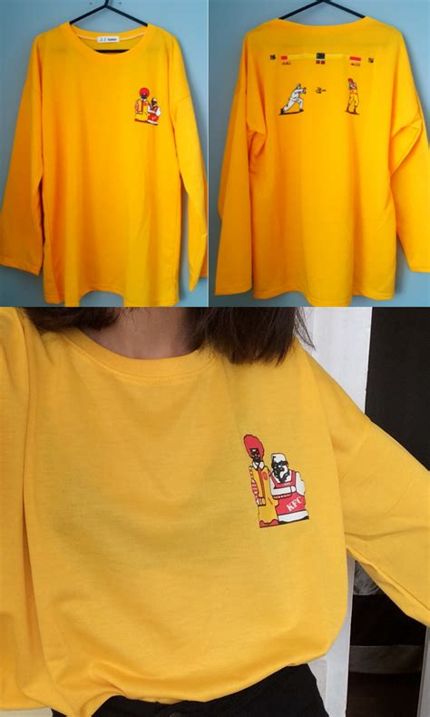mcdonalds sweater kawaii clothing camiseta mcdonalds kfc t shirt wh489