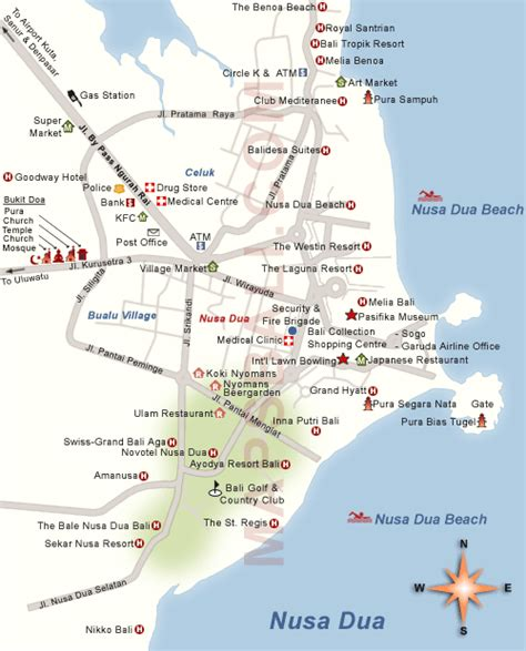 nusa dua map bali tourism map   people