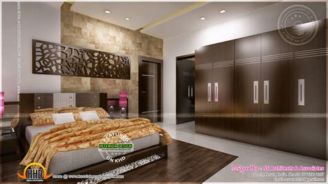 home interior design for bedroom awesome master bedroom interior kerala home design and
