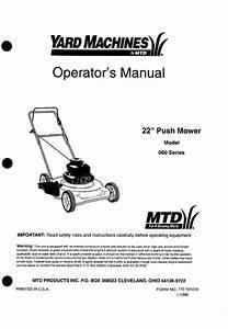 Yard Machines Lawn Mower 060 Series User Guide