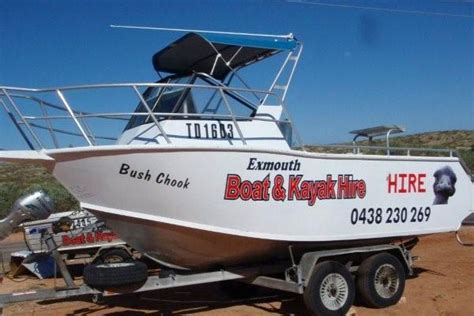 Boat Service Exmouth by Exmouth Boat Hire 5 5m Hire Boat Call Aspa 0438230269