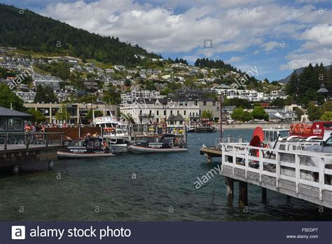 Boat Restaurant Marina South Pier by Boat Pier At Lake Wakatipu Queenstown South Island New