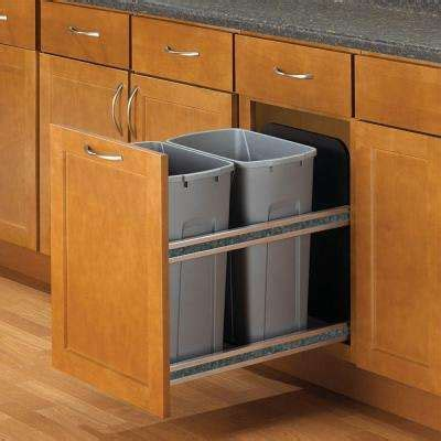 kitchen corner cabinet trash can pull out pull out trash cans kitchen cabinet organizers the