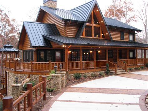 story log homes  story log homes  wrap  porch  story log home plans