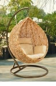 portia wicker hanging swing egg chair rattan