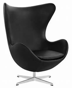 Fauteuil Pivotant Cuir : fauteuil pivotant egg chair rembourr cuir cuir noir ~ Teatrodelosmanantiales.com Idées de Décoration