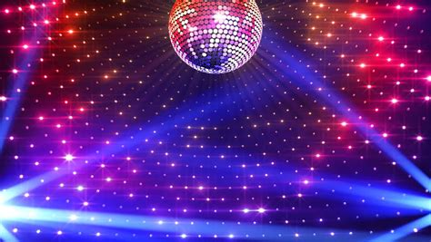 disco ball floor l disco mirror ball lights stock footage video 2865865