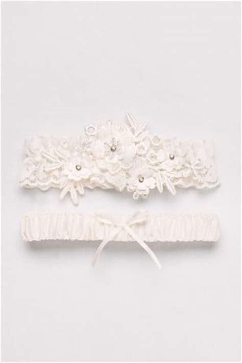 soft flower garter set davids bridal