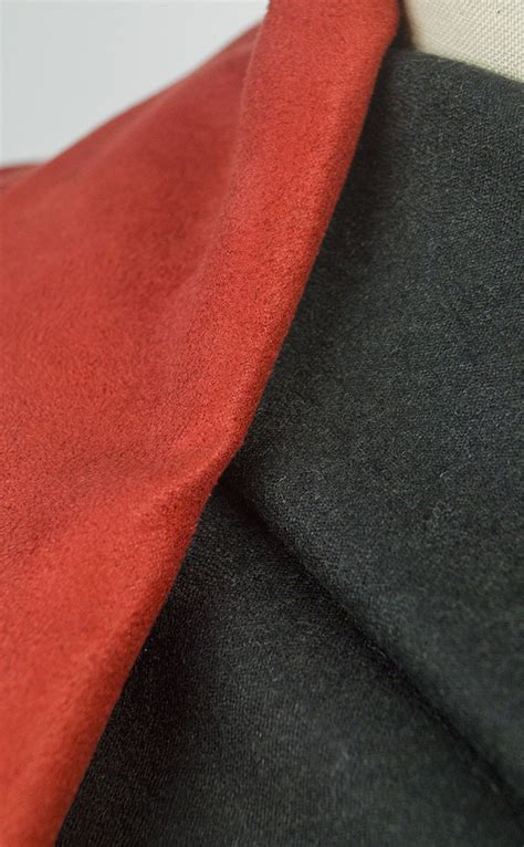 onslow draping charcoal grey wool flannel fabric
