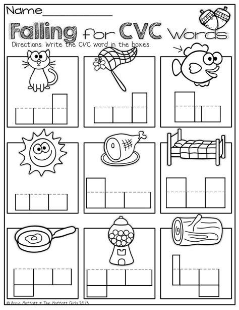 cvc worksheets for kindergarten cvc word worksheets by