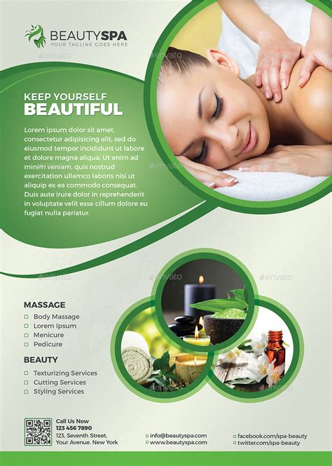 spa flyer beauty flyer  themedevisers graphicriver