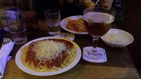 le meilleur spaghetti du monde avec la meilleure bière du