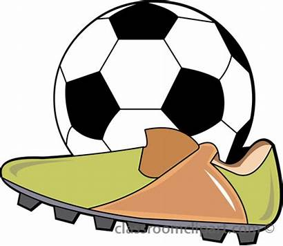 Soccer Clipart Ball Shoes Cleats Clip Background