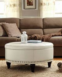 coffee table ottoman White Leather Ottoman Coffee Table Furniture | Roy Home Design