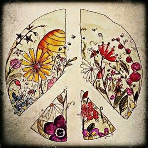 Hippie Peace Sign Drawing