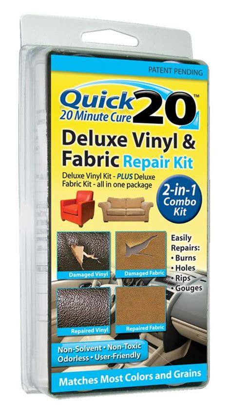 Vinyl Upholstery Repair by 20 Deluxe Vinyl And Fabric Repair Kit Leather And