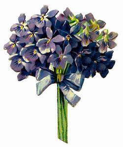 Victorian Graphic - Violet Bouquet - The Graphics Fairy