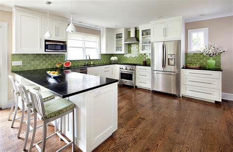 Green Backsplash Kitchen Kitchen Backsplash Ideas A Splattering Of The Most Popular Colors