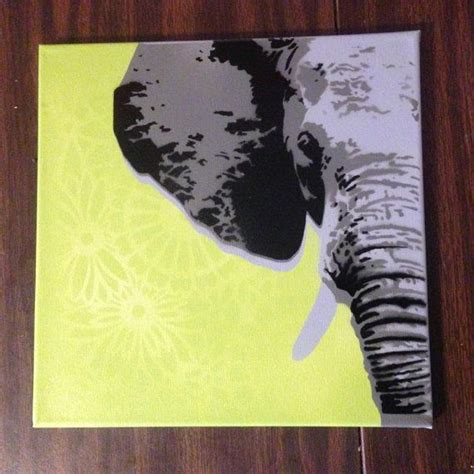custom elephant painting on canvas you colors by kcjo