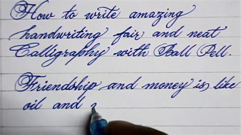 Cursive Hand Writing  How To Write Neat Cursive Handwriting  Mazic Writer Youtube