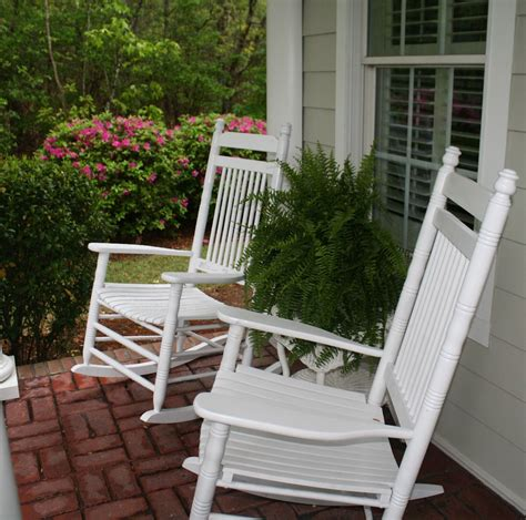 Front Porch Chairs For Sale by Cracker Barrel White Rocking Chairs Boston Ferns Front
