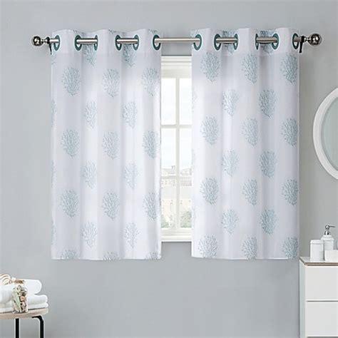 Bad Fenster Vorhang by Coral Reef 38 Inch Bath Window Curtain Tier Pair In Grey