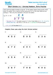 division htu 2 practise teach my - Division Worksheets No Carrying
