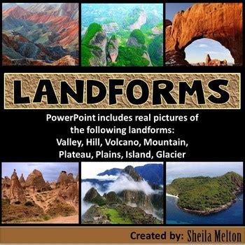 landforms powerpoint  sheila melton teachers pay teachers