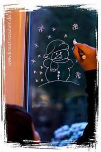 Fenster Bemalen Weihnachten : winterfenster schneemann kreativzauber bastelblog mit vielen vorlagen anleitungen und ideen ~ Watch28wear.com Haus und Dekorationen
