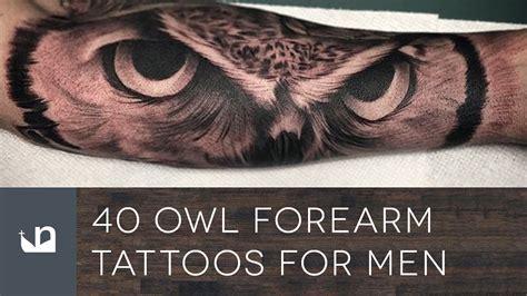 owl forearm tattoos  men youtube
