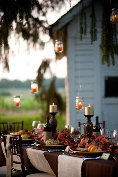 chic outdoor thanksgiving table setting ideas shelterness