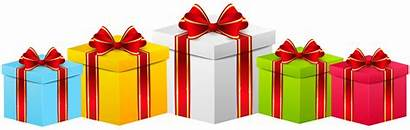 Gift Clip Transparent Boxes Gifts Clipart Birthday