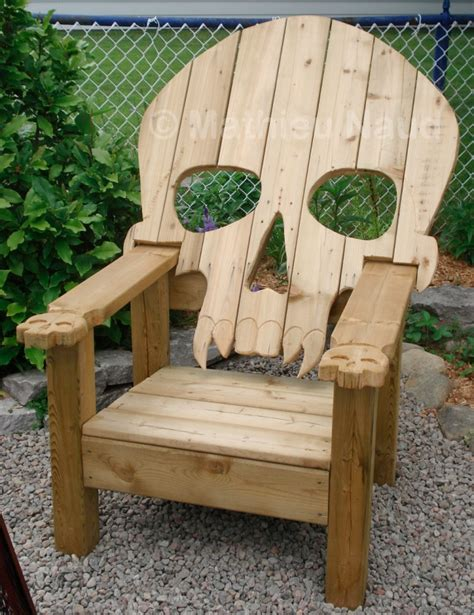skull adirondack chair plans badass adirondack skull chair craziest gadgets