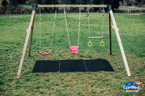 heavy duty wooden swing set pressure treated 4 quot 100mm climbing frame ebay