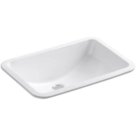 shop kohler ladena white undermount rectangular bathroom