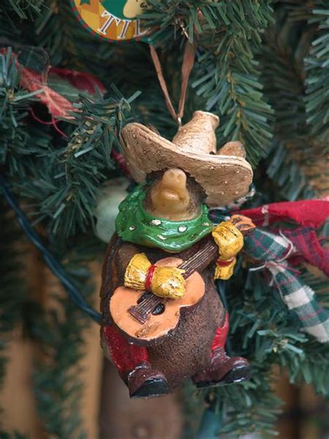 texas armadillo  guitar christmas ornament