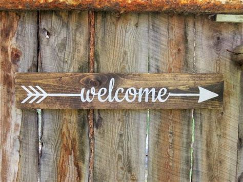 Welcome Sign Arrow Welcome Sign Rustic Wooden Arrow Sign