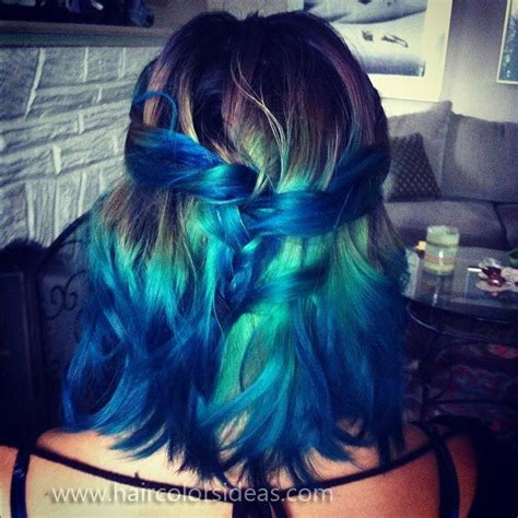 Green Blue Mermaid Ombre Dyed Hair Idea Things I Love