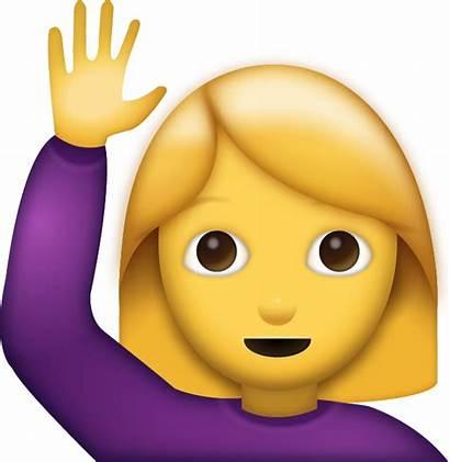 Emoji Hi Woman Saying Icon Clipart Emojis
