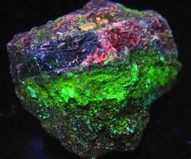 Fluorescent Uranium Ore