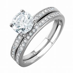 sterling silver round cut wedding ring set sbgr01004 With silver wedding ring sets