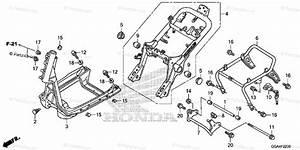 Honda Scooter 2017 Oem Parts Diagram For Frame