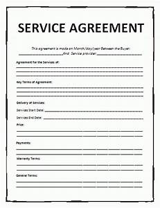 service agreement template free word templates With service provider agreement template