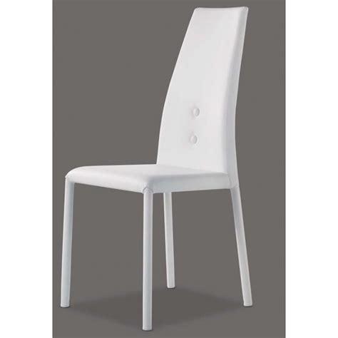 Chaises En Cuir Blanc by Chaise En Cuir Par Airnova Chaises Blanche De Salle A